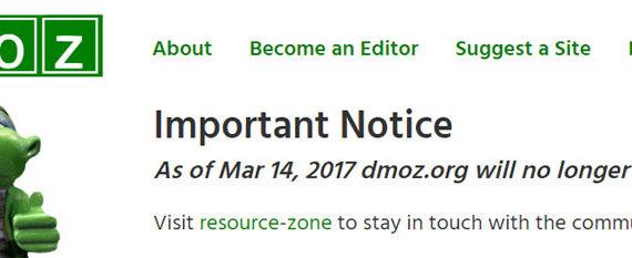 Закрытие каталога dmoz